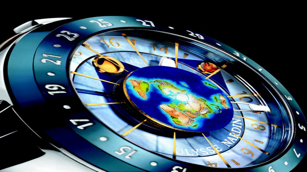 El Moonstruck ilustra el estado actual de las mareas y la tendencia de las mismas en relación a costas u océanos específicos.