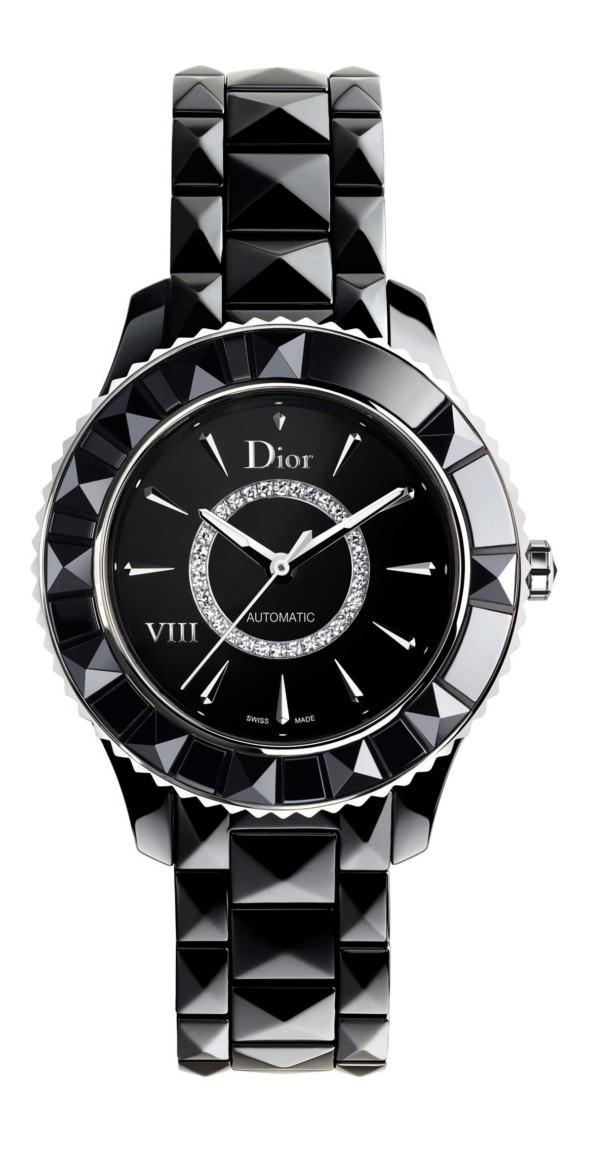 DIOR VIII BLACK AUTO-DIAMOND-SET-DIAL-33mm