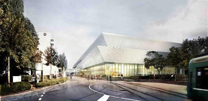 La estructura compacta del recinto permite una gestión flexible y ofrece a los visitantes un alto nivel de confort. Al mismo tiempo, el nuevo edificio es una impresionante tarjeta de visita arquitectónica.