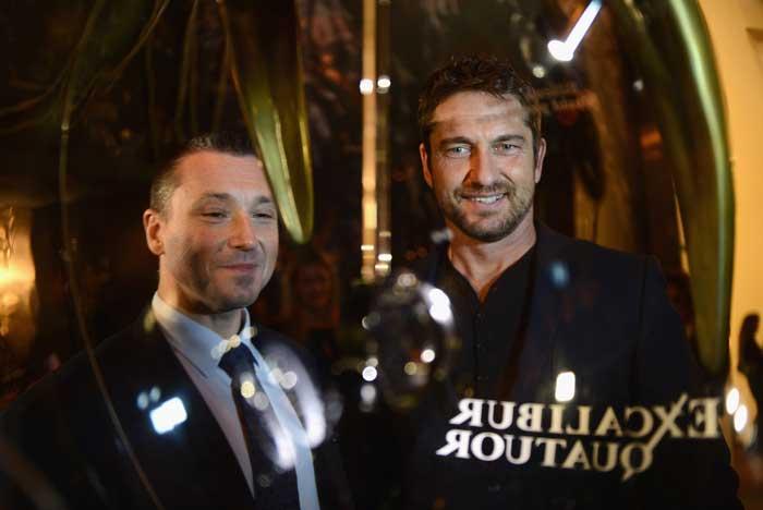 Jean-Marc Pontrué recibió al actor australiano Gerard Butler