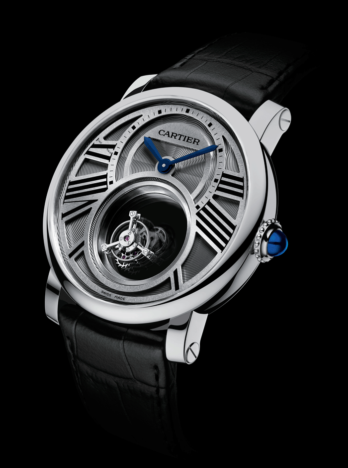 Reloj Rotonde de Cartier Mysterious doble Tourbillon.