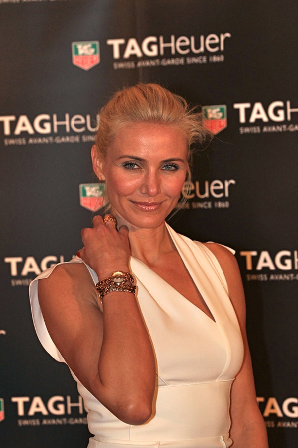 """""""I grew up watching the Grand Prix of Long Beach, which was my first glimpse into the excitement of open wheel racing. And I'm thrilled to be here now, at the most prestigious race on the Formula One circuit as part of the TAG Heuer family"""": Cameron Diaz"""
