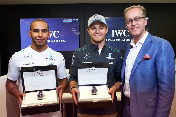 Lewis Hamilton and Nico Rosberg IWC Ambassadors