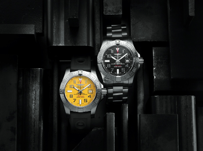 Avenger II Seawolf // Movimiento: mecánico automático a 28,800 a/h / Caja: 45 mm de acero pulido y satinado / Fondo de titanio grabado / Bisel: unidireccional / Cristal: zafiro / Hermeticidad: 3000 metros.