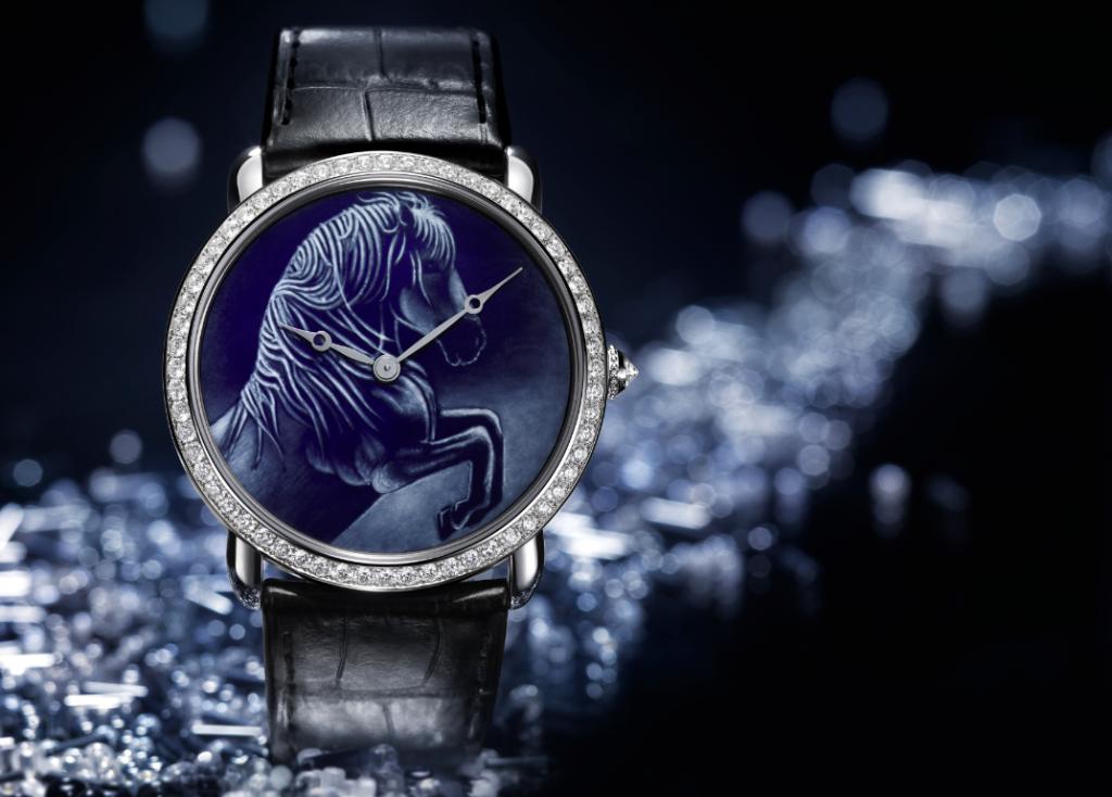 Reloj Ronde Louis Cartier, talla XL, motivo de caballo.