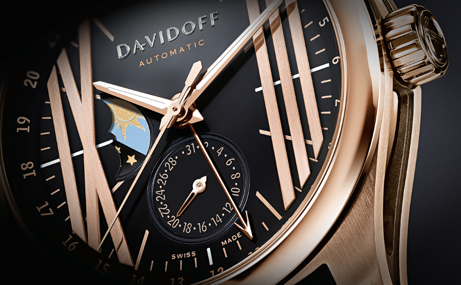 Davidoff Gent Automatic GMT Red Gold