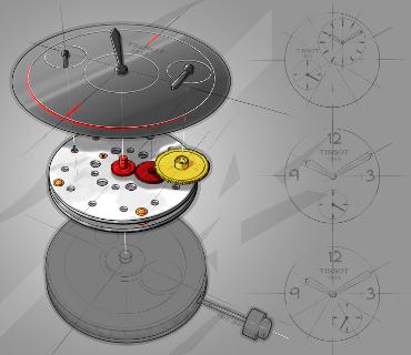 Calibre: ETA 2825-2 // Movimiento: mecánico automático / Diámetro: 25,60 mm (11 ½ líneas) / Altura: Altura: 6.60 mm / No. de Piezas: 182 / Joyas: 25 rubíes / Reserva de marcha: 42 h / Frecuencia: 4 Hz (28,800) / Espiral plana / Ajuste de la hora: a partir de la corona en 3 posiciones / Horas, minutos o segundos, pueden colocarse en cualquier sitio de la carátula.