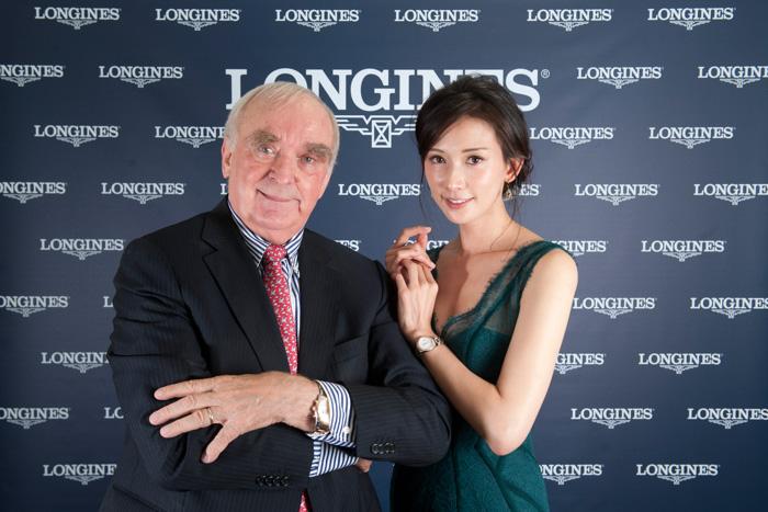 Walter von Känel, CEO de Longines y Chi-Ling Lin.