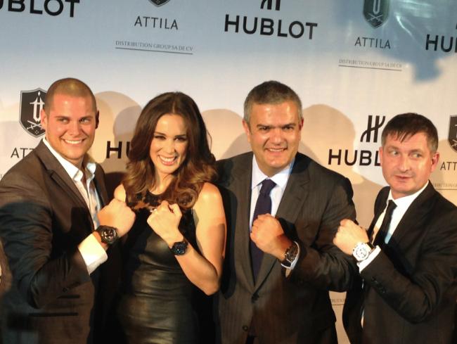 Fabio Rodríguez, Jacqueline Bracamontes, Ricardo Guadalupe y Fausto Salvi.