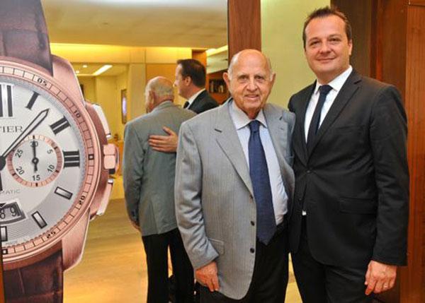 Don Mauricio Berger y Julien Kozlowskyj, Director General de Cartier México.