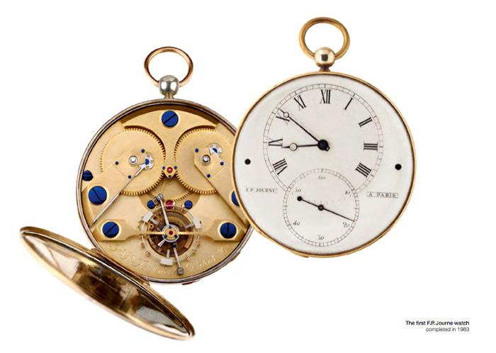 Primer reloj F.P. Journe de 1983 con mecanismo tourbillon.