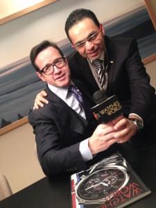 François-Henry Bennahmias, CEO de Audemars Piguet  y Guillermo Lira, Director General de Watches World.
