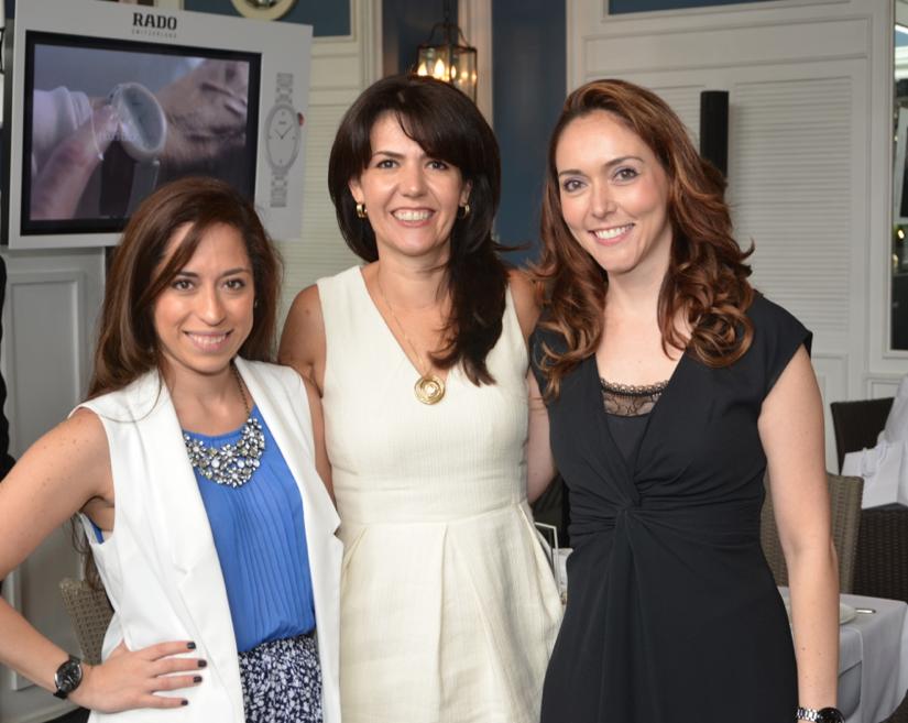 Maria Cortés PR & Marketing RADO, Lorena Combe, Directora General de Swatch Group México y Michelle Pell, Directora de Marca RADO México.