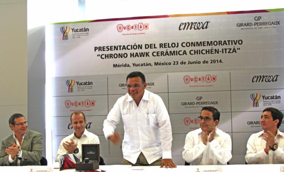 El gobernador de Yucatán Rolando Zapata Bello.