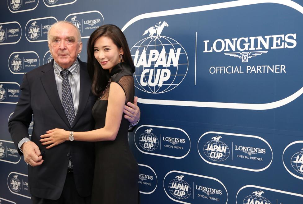 Walter von Känel, Presidente de Longines con Chi Ling Lin, Embajadora de la Elegancia de Longines.