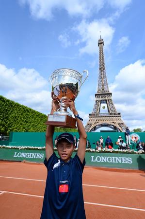 Longines Future Tennis, el ganador  Xiaofei Wang.