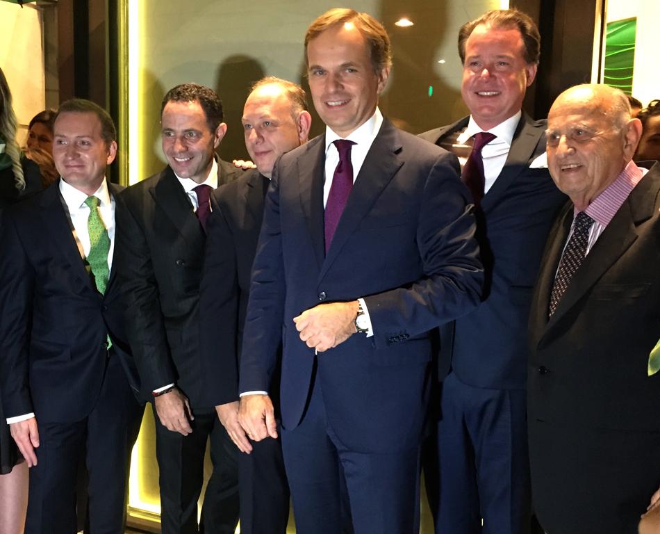 Gonzalo Álvarez, Director General de Rolex México, Sergio Berger, Ari Berger, Jean-Frédéric Dufour, Benoit Falleti y don Mauricio Berger