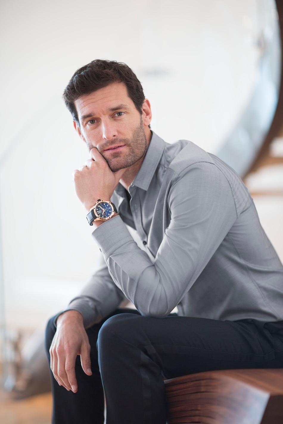 Mark-Webber-wearing-the-Superfast-Chrono-Rose-gold-JohannSauty-Chopard