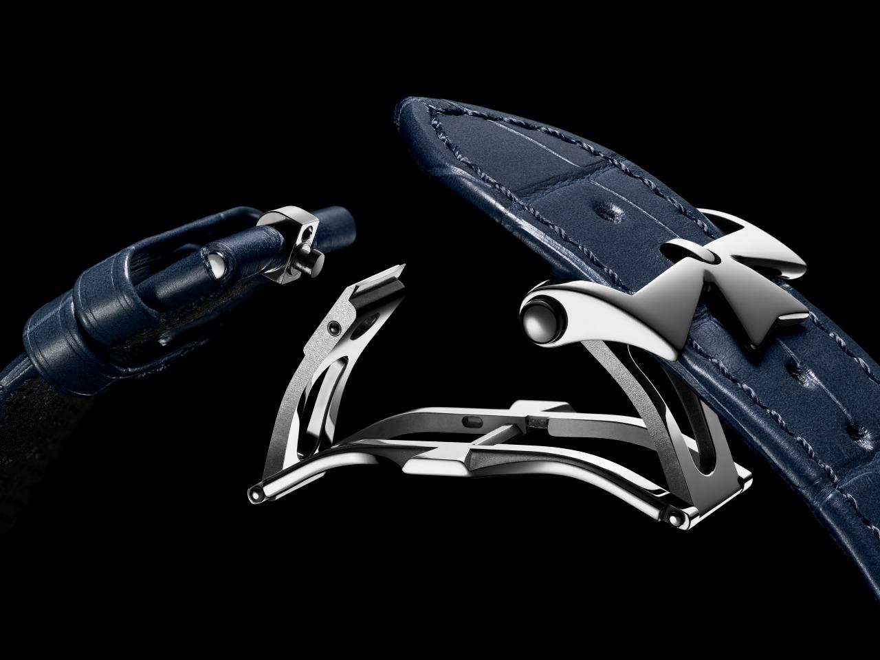 boucle interchangeable sur bracelet cuir Overseas