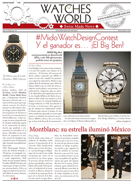 Swiss Made News Nov 2015