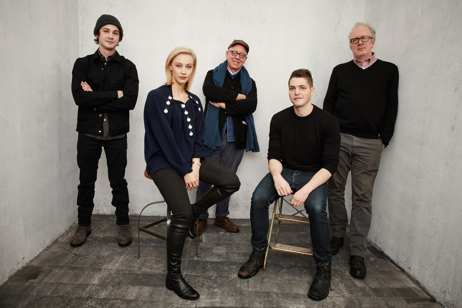 Actor-Logan-Lerman,-actress-Sarah-Gadon,-writer-&-director-James-Schamus,-actors-Philip-EttingerGetty-Images
