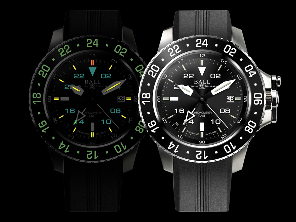 BALL WATCH Engineer Hydrocarbon AeroGMT DG2016A-PCJ-BK_night