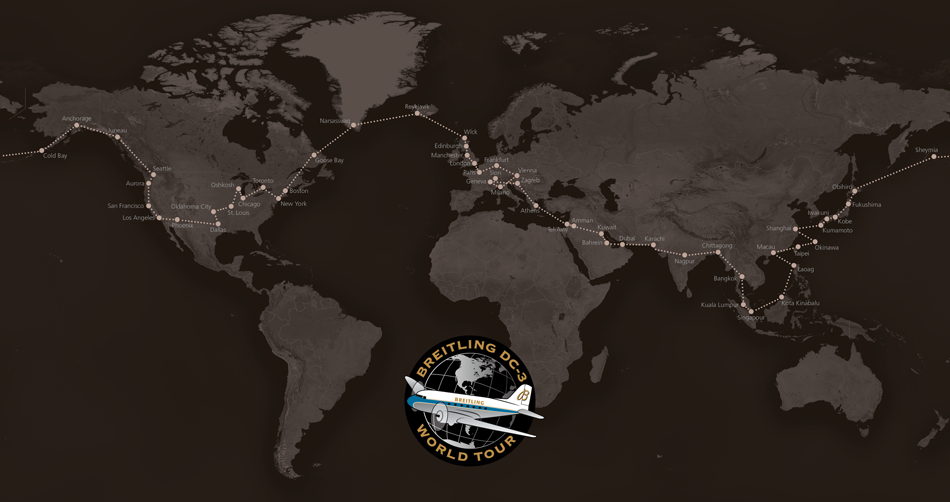 breitling-dc-3-world-tour-map