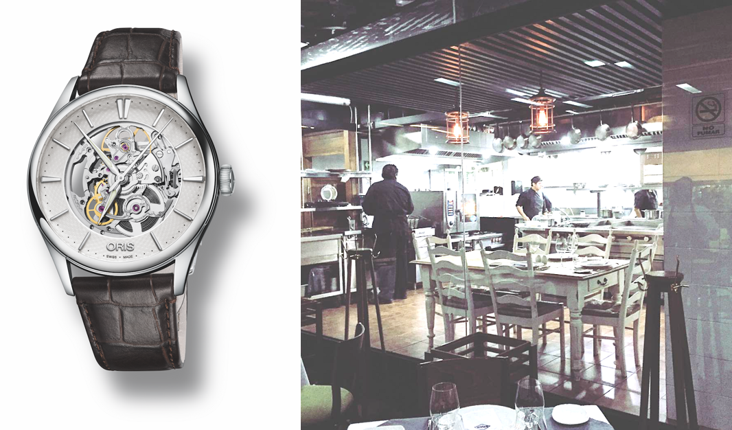 Oris_SINAIA_restaurante_polanco_chef_Poncho_Alberto_Artelier_Skeleton_Watches_World