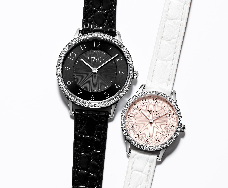 Slim d´Hermès, el reloj femenino que juega con polos opuestos
