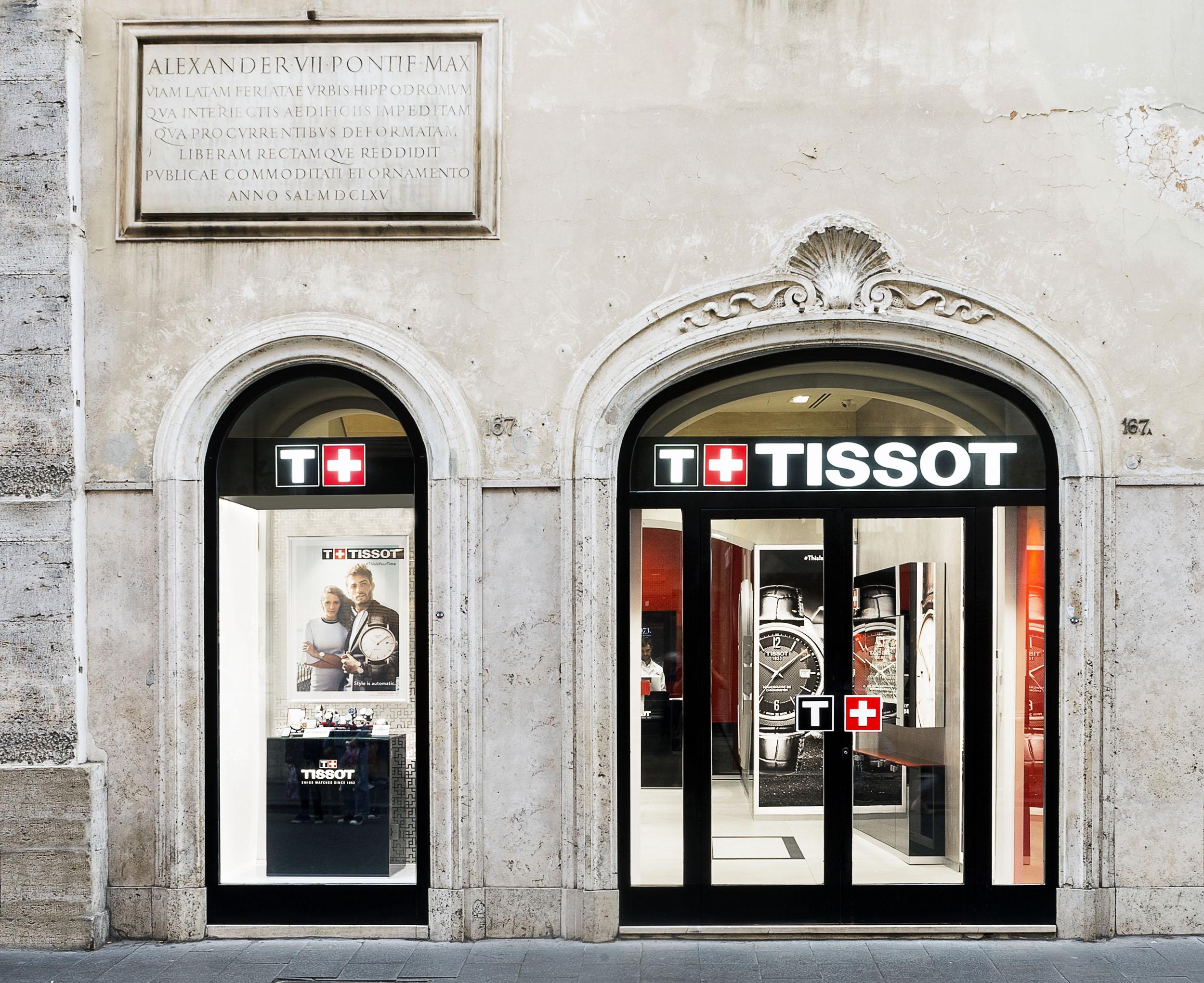 Tissot apertura boutique en Roma