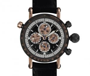 El Timemaster Split Second incorpora la complicación con aguja de segundero ratrapante patentada por Chronoswiss para el Chronograph Rattrapante en 1992.