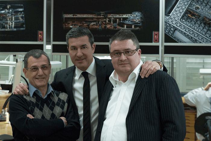 Vincent Calabrese, Antonio Calce y Laurent Besse.