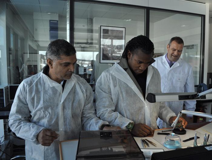 Yohan Blake durante su visita a la manufactura Richard Mille.