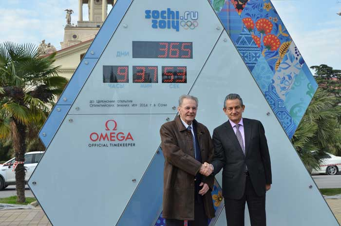 El pasado 7 de Febrero, el Presidente de OMEGA, Stephen Urquhart se reunió con Jacques Rogge,  Presidente del Comité Olímpico Internacional.