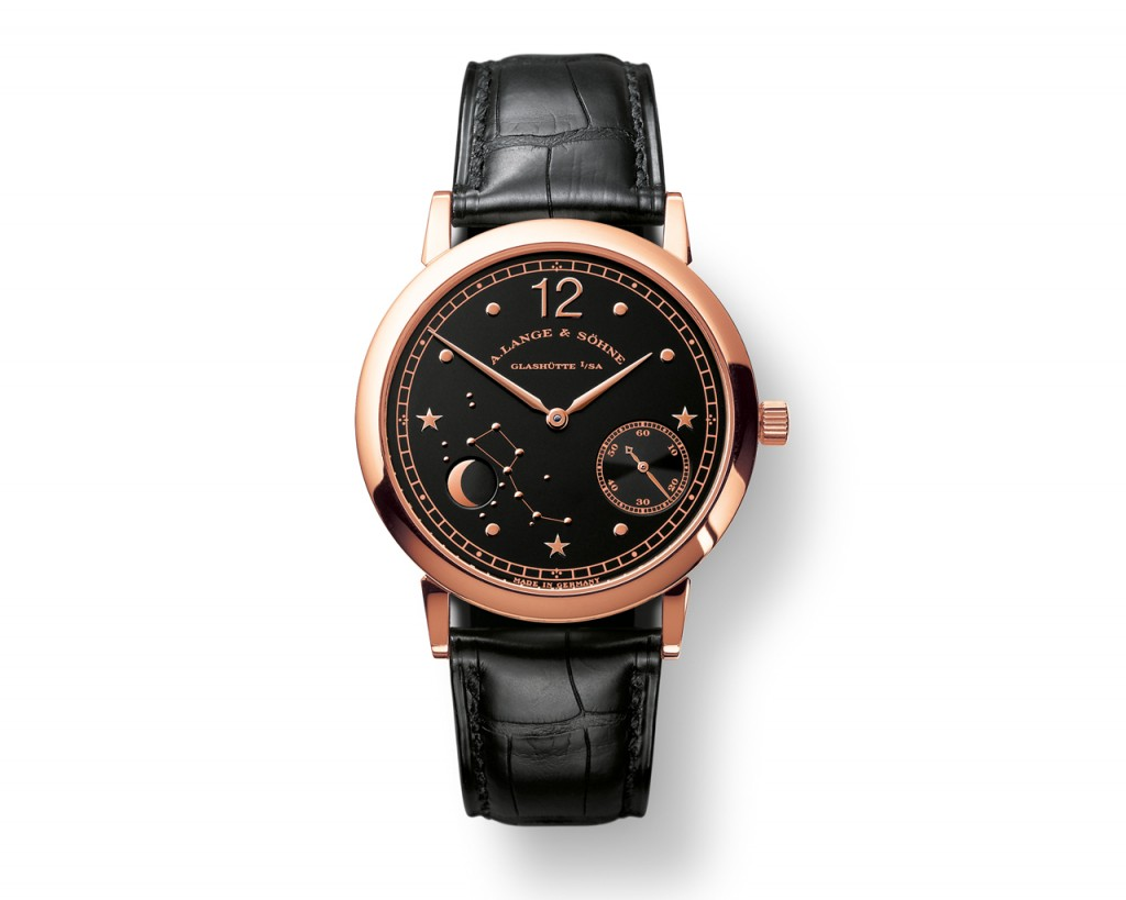 A Langue 1815 Moonphase en oro rosa.