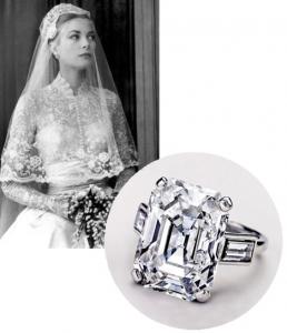 La princesa Grace de Mónaco y su legendario anillo de compromiso.