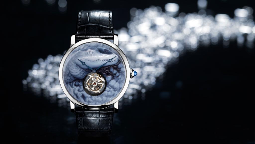 Reloj Rotonde de Cartier, motivo cocodrilo.