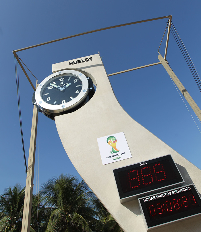 Reloj Oficial de cuenta atrás HUBLOT, Playa Copacabana de Río de Janeiro.