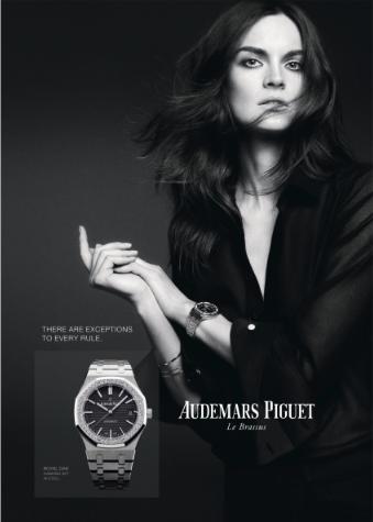La supermodelo Anouck Lepère, imagen de la nueva campaña de Audemars Puguet.