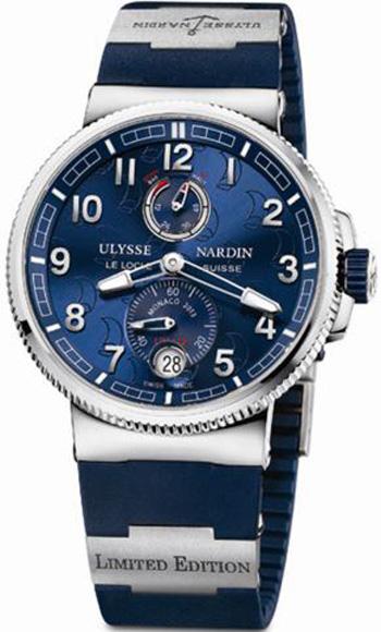 Monaco Limited Edition // Limited Edition / Referencia: 1183-126LE-3/63_MON / Movimiento: mecánico automático con certificado COSC / Calibre: UN-118 / Reserva de marcha: 60 h / Funciones: horas, minutos y segundos a las 6 h; reserva de marcha a las 12 h y fechador a las 6 h con ajuste para delante o atrás / Corona: atornillada / Caja: 43 mm de titanio y acero inoxidable / Cristal: zafiro por ambos lados / Carátula: azul  marino con patrón náutico / Corona: atornillada / Hermeticidad: 200 m / Correa: de caucho con cierre desplegable.