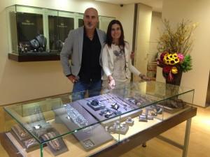 Juan Carlos Comesana y Chiara Carli.
