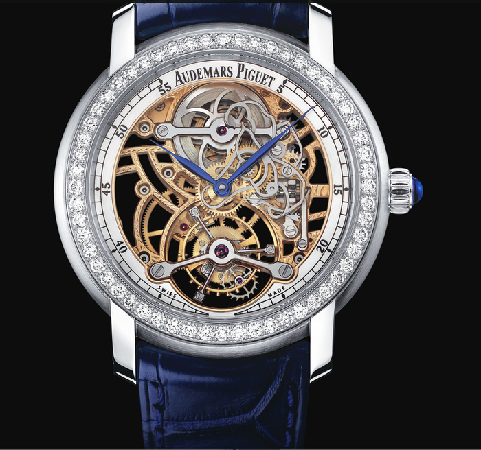 Open worked Tourbillon (Ref. 26357). Ladies Jules Audemars Collection. Calibre 2906, tourbillon esqueletado de cuerda manual.