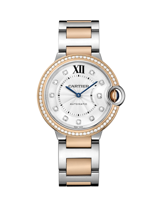 Ballon Bleu de Cartier watch in steel and pink gold28 mm2