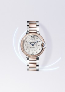 BallonBleu de Cartier in steel and pink gold