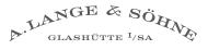 A. LANGE SOHNE