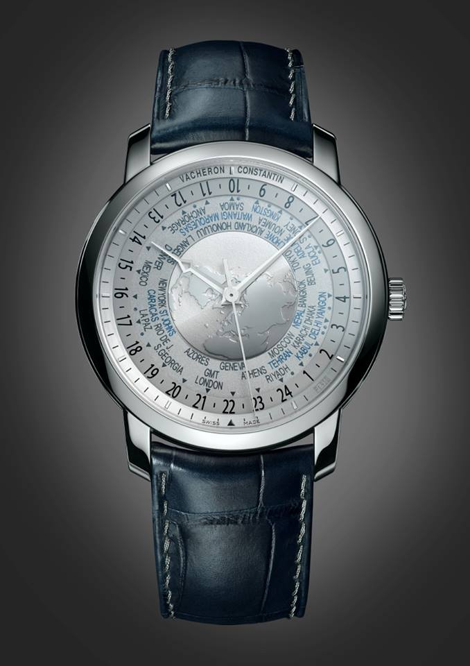 Traditionnelle world time Collection Excellence Platine