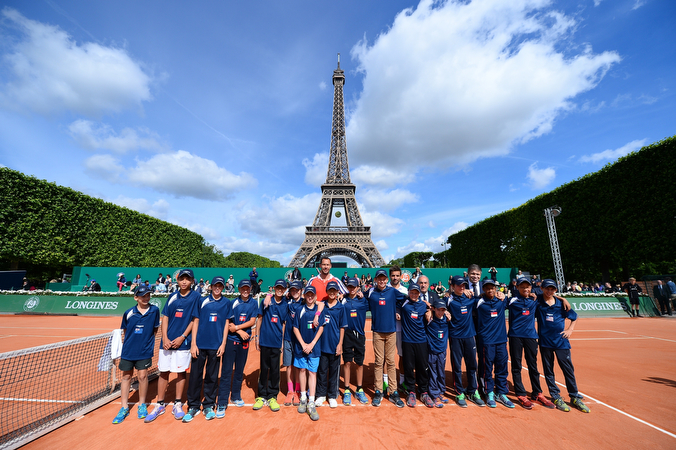 Longines Future Tennis Aces 2015 - Final Team Picture - Eiffel Tower- 2015/05/30