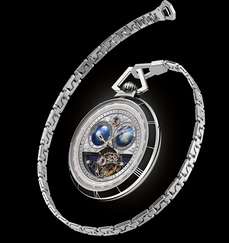 MontblancCollectionVilleretTourbillonCylindriquePocketWatch