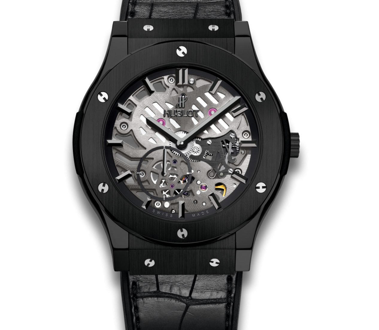All Black ultraplano Hublot