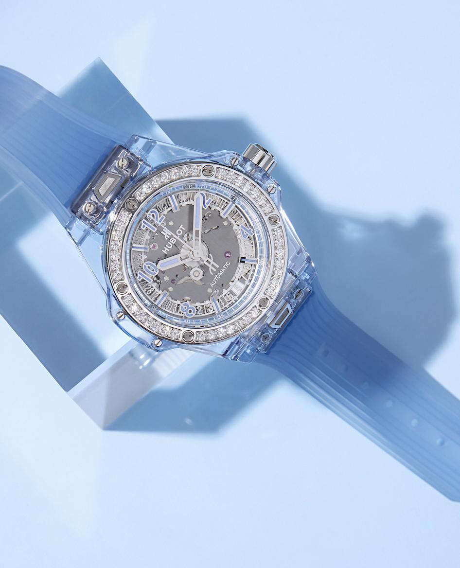 Hublot Big Bang One Click Blue Sapphire Diamonds